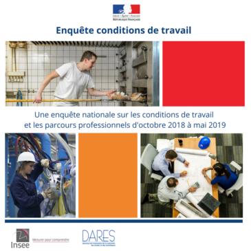INSEE – ENQUETE  SUR LE CONDITIONS DE TRAVAIL